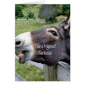 El animal del campo divertido de la mula del burro tarjeta de felicitación