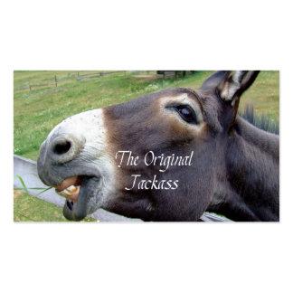 El animal del campo divertido de la mula del burro plantillas de tarjetas de visita