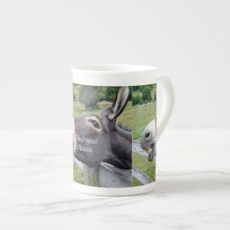 El animal del campo divertido de la mula del burro tazas de china