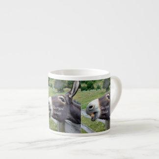 El animal del campo divertido de la mula del burro taza espresso
