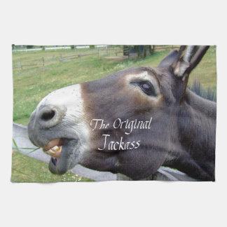 El animal del campo divertido de la mula del burro toallas de mano