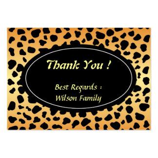 El animal del guepardo mancha el modelo tarjetas de visita grandes