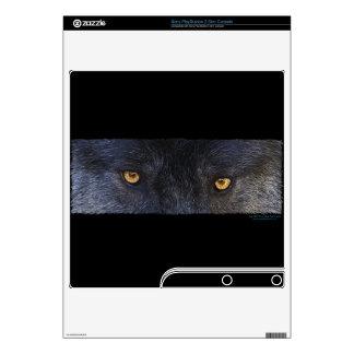 El animal del lobo gris observa 2 la piel de Plays Skin Para El PS3 Slim