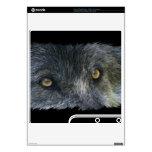 El animal del lobo gris observa 3 la piel de Plays Skin Para El PS3 Slim