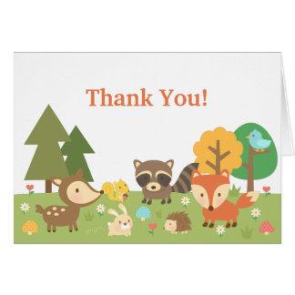 El animal lindo del arbolado le agradece tarjeta de felicitación