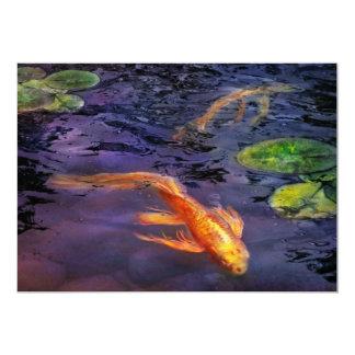 """El animal - pescado - allí es algo sobre koi invitación 5"""" x 7"""""""