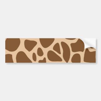 El animal salvaje del estampado de girafa modela pegatina para auto