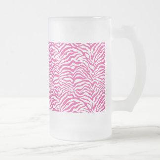 El animal salvaje del estampado de zebra de las ro taza de café