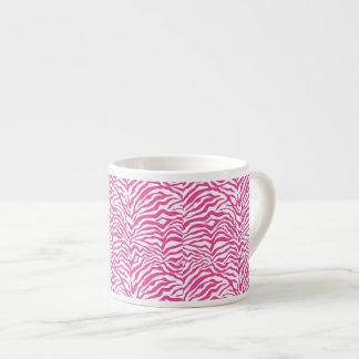 El animal salvaje del estampado de zebra de las ro taza de espresso