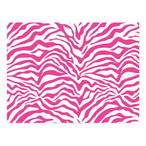 El animal salvaje del estampado de zebra de las tarjetas postales