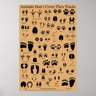El animal sigue el poster póster