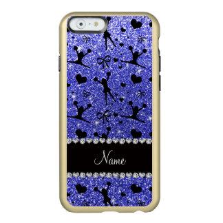 El animar azul de neón conocido de encargo del funda para iPhone 6 plus incipio feather shine