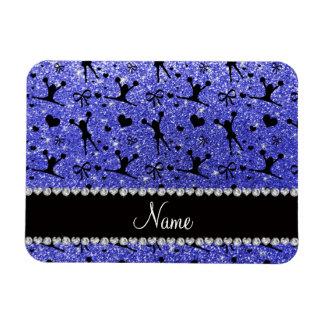 El animar azul de neón conocido de encargo del iman flexible