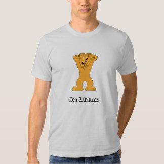 El animar de la fan del león del dibujo animado playera