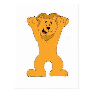 El animar de la fan del león del dibujo animado tarjeta postal