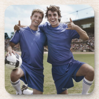 El animar de los jugadores de fútbol posavaso