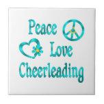 El animar del amor de la paz azulejos ceramicos