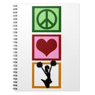 El animar del amor de la paz libros de apuntes con espiral