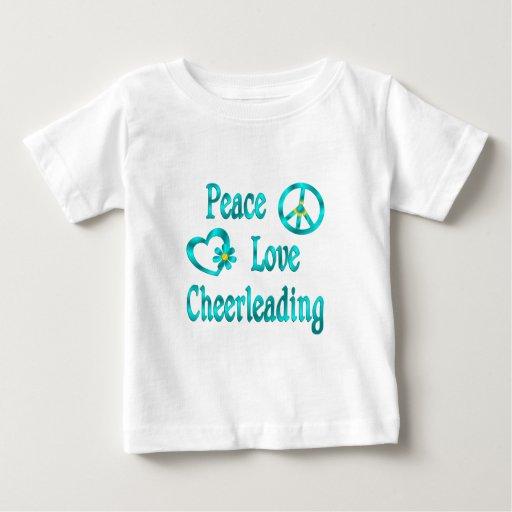 El animar del amor de la paz playeras