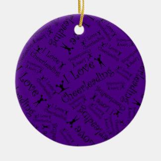 El animar del amor de la púrpura I Adorno Redondo De Cerámica