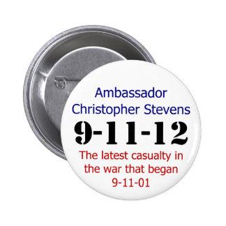El aniversario 911 pin redondo de 2 pulgadas