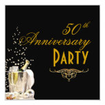 El aniversario, Champán burbujea las invitaciones Invitación 13,3 Cm X 13,3cm