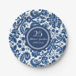 El aniversario conocido de encargo platea el plato de papel de 7 pulgadas