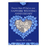 El aniversario de boda del zafiro parents la tarje tarjetas