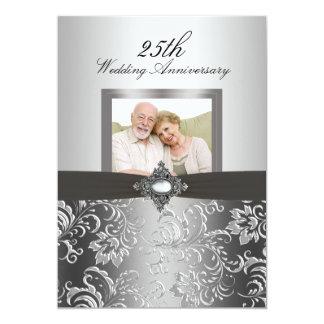 """El aniversario de boda floral de la foto 50.a del invitación 5"""" x 7"""""""