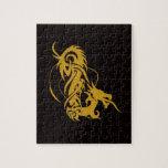 El año chino del dragón 2012 puzzles