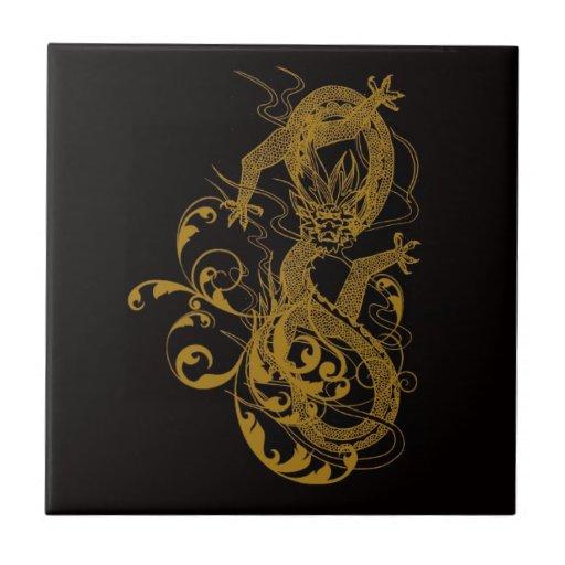 El año chino del dragón 2012 teja