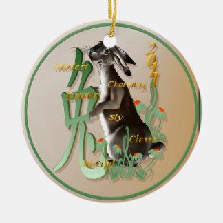 El año de los Conejo-Ornamentos Ornamente De Reyes