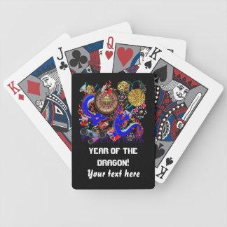 El año de Vegas del dragón ve por favor notas Baraja De Cartas