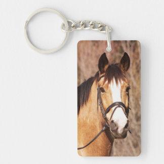 El año del caballo llavero rectangular acrílico a doble cara