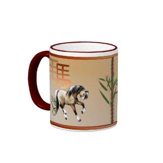 El año del caballo taza de café