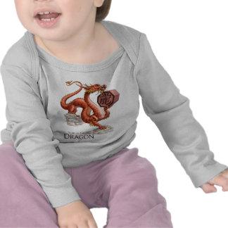 El año del camisetas del bebé del dragón