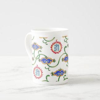 El año del ~ del dragón se nubla la taza de la por taza de porcelana