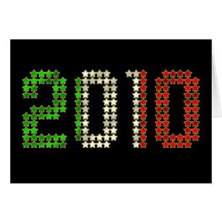El Año Nuevo 2010 y los deportes italianos de la b Felicitación