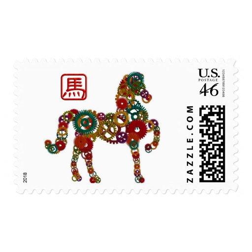 El Año Nuevo chino de la madera del caballo adapta Sellos