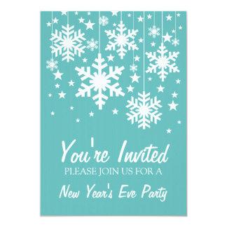 El Año Nuevo de los copos de nieve y de las Invitación 12,7 X 17,8 Cm
