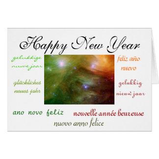 El Año Nuevo del mundo Tarjeta Pequeña