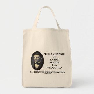 El antepasado de cada acción es un pensamiento bolsa tela para la compra