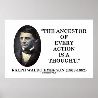 El antepasado de cada acción es un pensamiento (Em