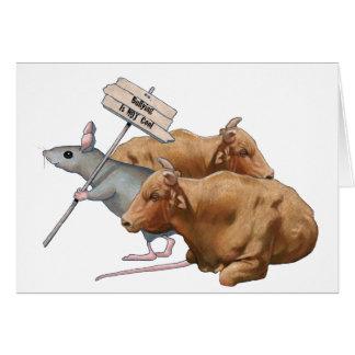 El Anti-Tiranizar: Toros, ratón: Tiranizar no fres Tarjeta De Felicitación