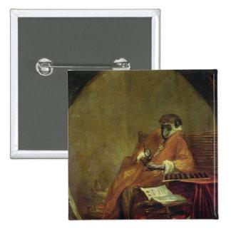 El anticuario del mono, 1740 pin cuadrada 5 cm