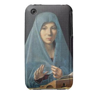 El anuncio, 1474-75 (aceite en el panel) funda para iPhone 3