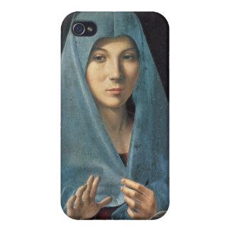 El anuncio, 1474-75 (aceite en el panel) iPhone 4 funda