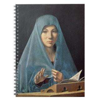 El anuncio, 1474-75 (aceite en el panel) note book