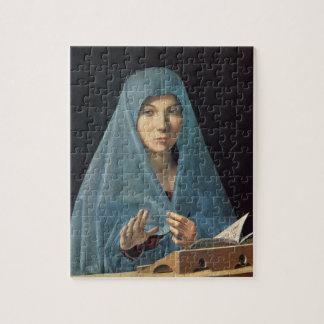 El anuncio, 1474-75 (aceite en el panel) rompecabeza con fotos