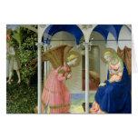 El anuncio, c.1430-32 tarjetas